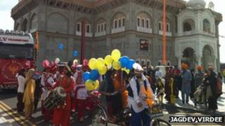 Vaisakhi procession in Gravesend