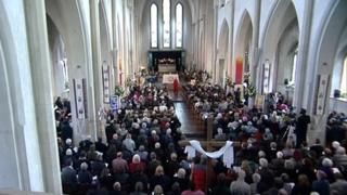 Memorial service at St Mary's Church in Southampton
