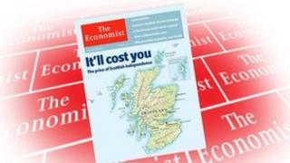 The Economist front cover showing map of Scotland