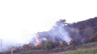 Gorse fires at Altaghadherry