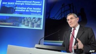 GDF chief Gerard Mestrallet after the International Power shareholder meeting approved the merger between the two firms in December 2010