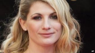 British actress Jodie Whittaker arrives for the Olivier Awards at the Royal Opera House