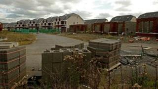 An unfinished housing estate in north County Dublin
