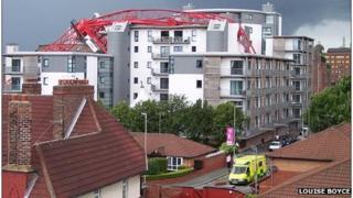 Crane collapse in Liverpool
