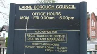 Larne Borough Council sign