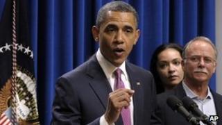 US President Barack Obama talks about the Buffett Rule, Washington, DC, 11 April 2012