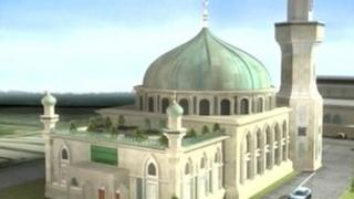 A computer generated image of the proposed Dudley Mosque