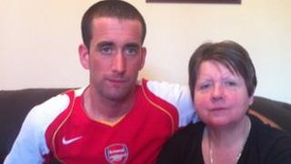 Diane Tamblin with her son Matthew