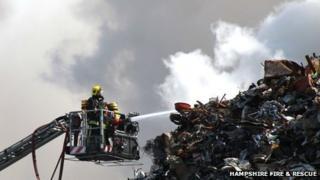 Southampton docks fire