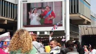 Royal wedding on Derby big screen