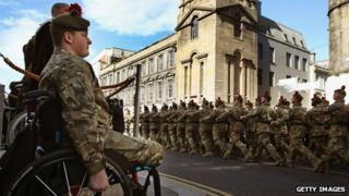 Pte Stephen Bainbridge and Black Watch in Inverness