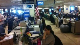 Obama's headquarters in Chicago April 2012