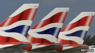British Airways planes, Heathrow