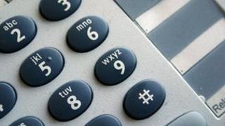 Keypad on a telephone