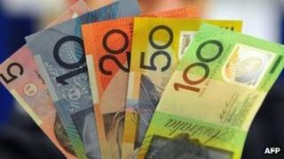File photo: Australian dollars