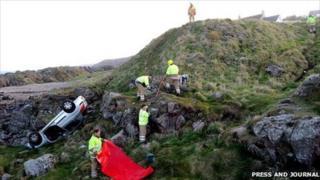 Cove crash [Pic: Press and Journal]