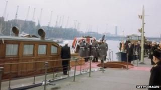 Havengore during Sir Winston Churchill's funeral procession