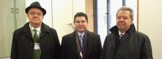 Eric Luis Rubio Barthell, Nicolas Bellizia Aboaf and Porfirio Munoz Ledo