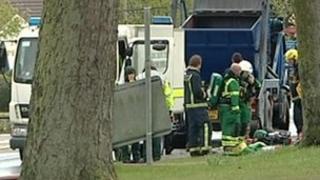 Bomb disposal van in Banbury