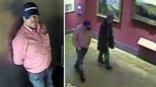 CCTV image of men alleged to have stolen Nelson memorabilia