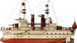 Tinplate battleship HMS Terrible