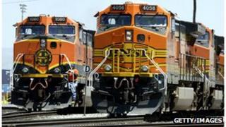 Burlington Northern Santa Fe GE diesel train engines