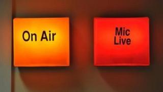 Radio studio On Air and Mic Live lights