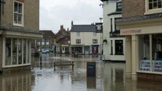 Pocklington flood water