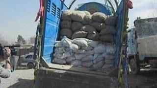 Truck containing explosives (Image: NDS)