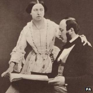 Queen Victoria and Prince Albert at Buckingham Palace on 30 June 1854