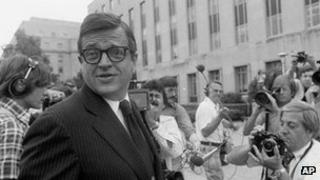 Charles Colson arrives at a court in Washington to be sentenced for obstructing justice in the Watergate case, 1974