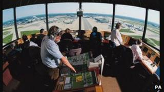 Air traffic control at Gatwick Airport