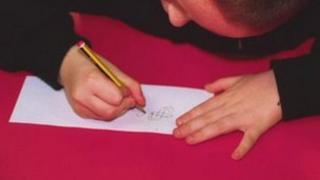 Pupil in classroom (generic)