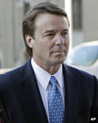 John Edwards arrives at court 23 April 2012