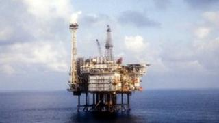 generic oil platform in the North Sea