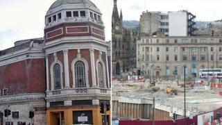 The Odeon, left, and the Westfield site