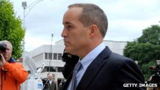 Andrew Young, former campaign aide to John Edwards, enters court in Greensboro, North Carolina, on 23 April 2012