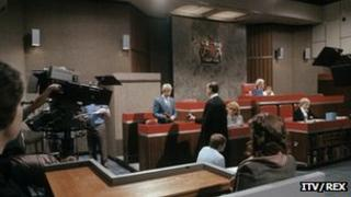 A scene from Crown Court, which ran on ITV from 1972 to 1984