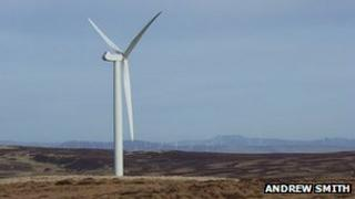 Earlsburn wind turbine