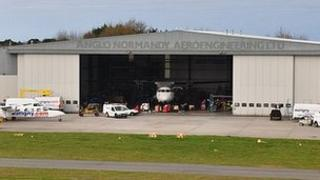 Anglo Normandy Aeroengineering hangar at Guernsey Airport
