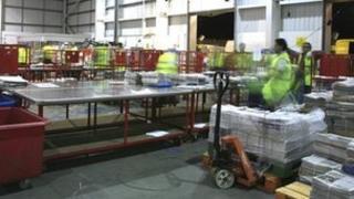 Inside a warehouse belonging to Smiths News