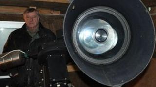 Tom Boles in his Coddenham observatory