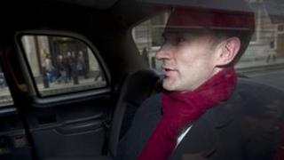 Jeremy Hunt leaving his office on the 24 April 2012