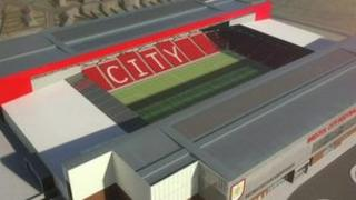 An artists' impression of how Bristol City's new stadium could look