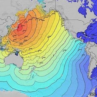 Tsunami travel times following Tohoku earthquake