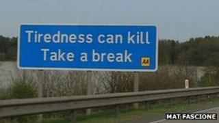Tiredness sign