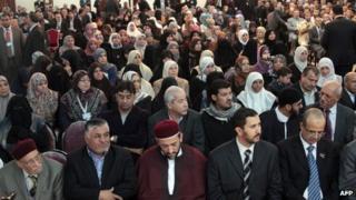 A meeting of the Libyan Muslim Brotherhood in Benghazi (November 2011)
