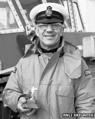 Joel Grunnill in 1984 following his retirement from Skegness lifeboat crew after 45 years service