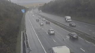 Traffic camera image west of Bridgend