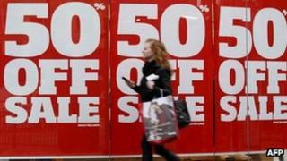 Shopper in London